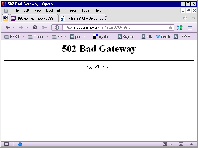 HTTP ERROR 502 3 - IBM